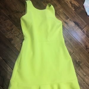 Lime green J Crew dress size 4